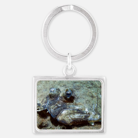 Flounder Landscape Keychain