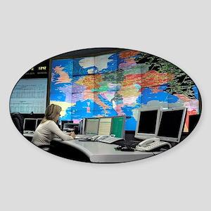 Gazprom control room, Russia Sticker (Oval)