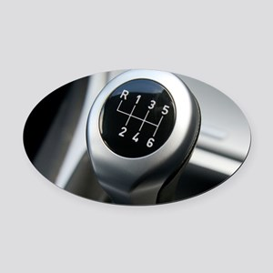 Gearstick Oval Car Magnet