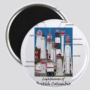 Lighthouses of British Columbia Magnet