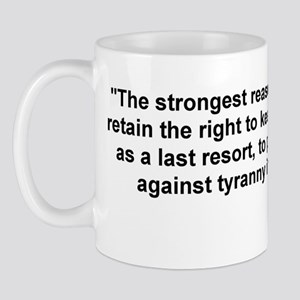 Tyranny black and white Mug