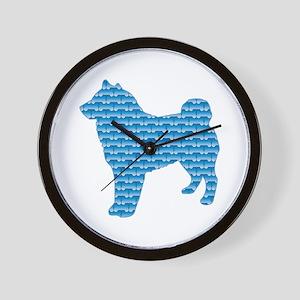 Bone Sheepdog Wall Clock