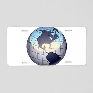 Globe Aluminum License Plate