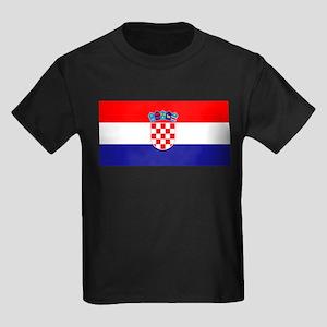 Croatia flag Kids Dark T-Shirt