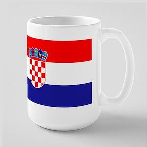 Croatia flag Large Mug