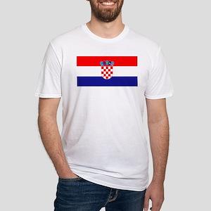 Croatia flag Fitted T-Shirt