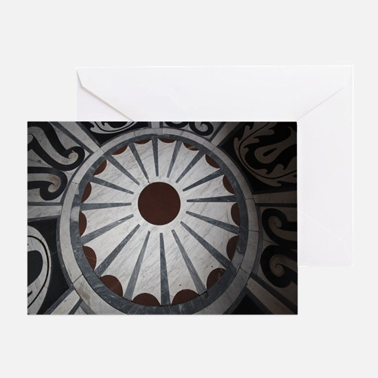 Cathedral Floors - Florence Italy Greeting Card