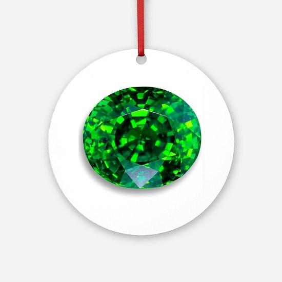 Emerald Round Ornament