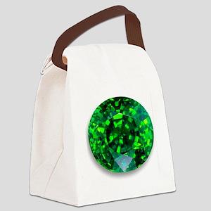 Emerald Canvas Lunch Bag