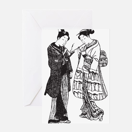 Geisha Greeting Cards