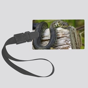 Grass snake Large Luggage Tag