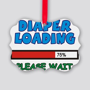 Diaper Loading, please wait Picture Ornament