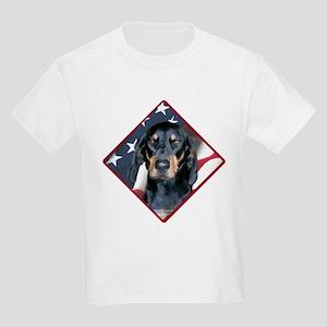 Black & Tan Flag 2 Kids Light T-Shirt