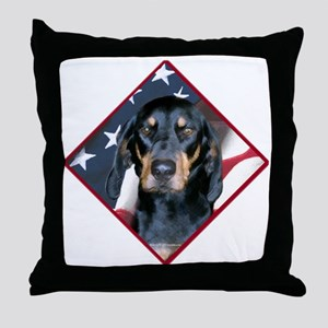 Black & Tan Flag 2 Throw Pillow