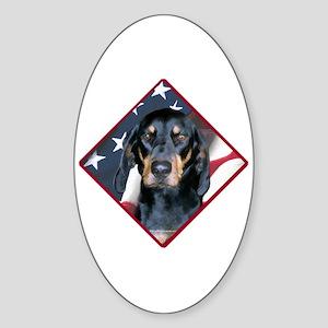 Black & Tan Flag 2 Oval Sticker