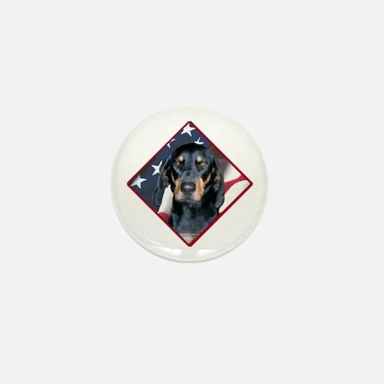 Black & Tan Flag 2 Mini Button