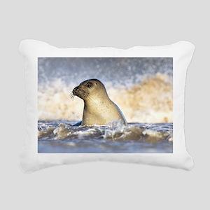 Grey seal juvenile Rectangular Canvas Pillow