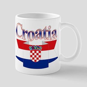 Cute Croatia ribbon Mug