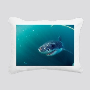 Great white shark Rectangular Canvas Pillow
