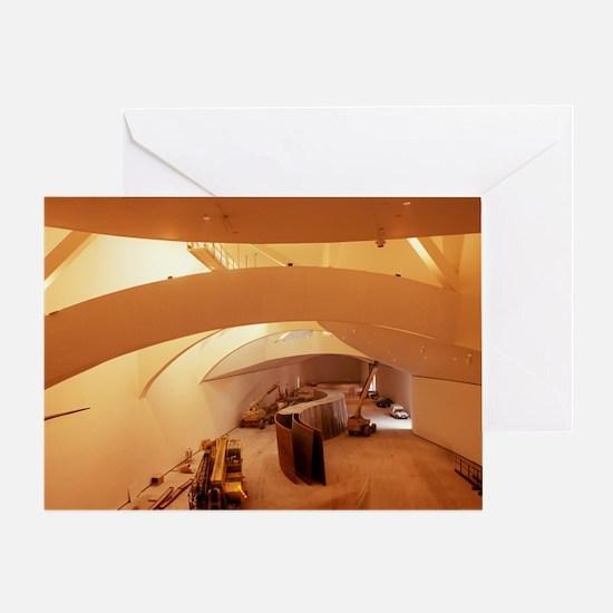 Guggenheim Museum interior Greeting Card