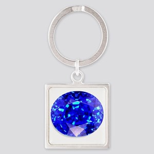 Sapphire Square Keychain