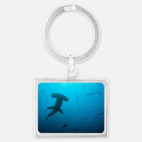 Hammerhead shark Landscape Keychain