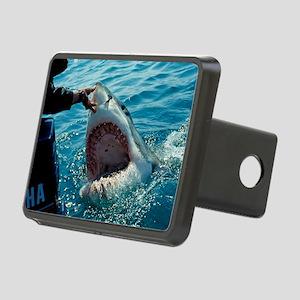 Great white shark Rectangular Hitch Cover
