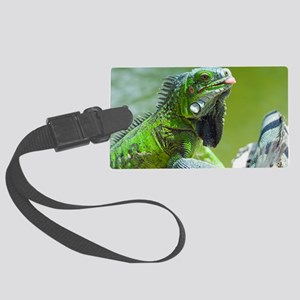 Green iguana Large Luggage Tag