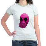 Pink Gas Mask Jr. Ringer T-Shirt