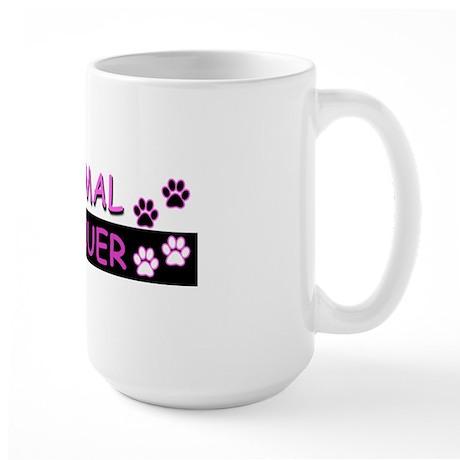 ANIMAL RESCUER (Purple) Large Mug