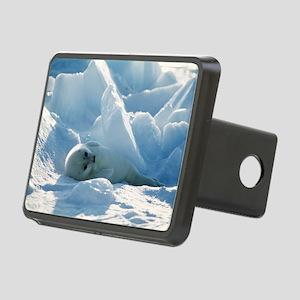 Harp seal pup Rectangular Hitch Cover