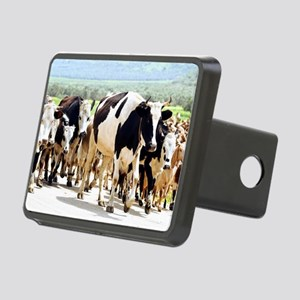 Herd of cows and goats Rectangular Hitch Cover