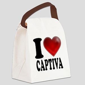 I Heart Captiva Canvas Lunch Bag