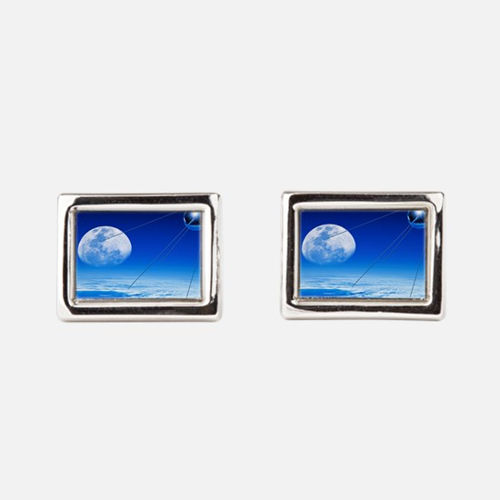 Sputnik 1 satellite, composite image Cufflinks