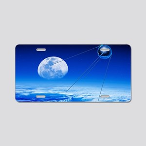 Sputnik 1 satellite, compos Aluminum License Plate