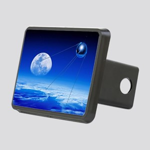 Sputnik 1 satellite, compo Rectangular Hitch Cover