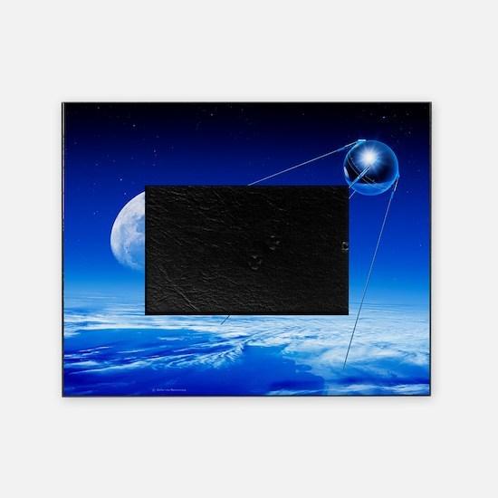 Sputnik 1 satellite, composite image Picture Frame