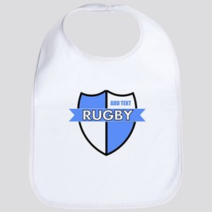 Rugby Shield White Lt Blue Bib