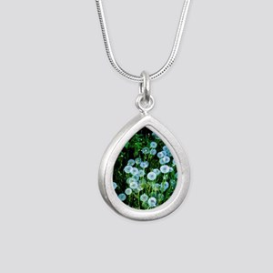 Alaska Flowers 9 Silver Teardrop Necklace