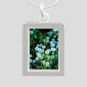 Alaska Flowers 9 Silver Portrait Necklace