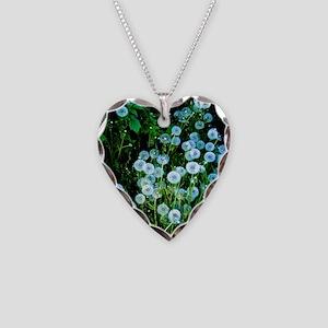 Alaska Flowers 9 Necklace Heart Charm