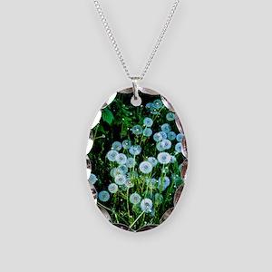 Alaska Flowers 9 Necklace Oval Charm