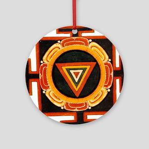 Kali Yantra Round Ornament