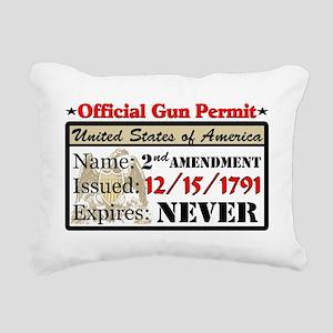 Official Gun Permit Rectangular Canvas Pillow