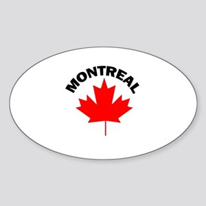 Montreal, Quebec Oval Sticker