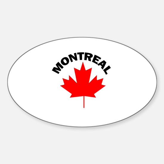 Montreal, Quebec Oval Decal