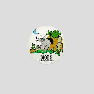 Cartoon Mole by Lorenzo Mini Button