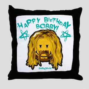 Bobby Smiley Throw Pillow