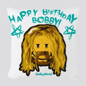 Bobby Smiley Woven Throw Pillow