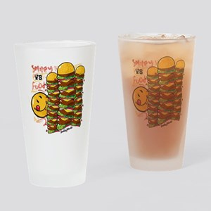 Burger Tower Smiley Drinking Glass